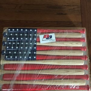 American Flags made out of bats
